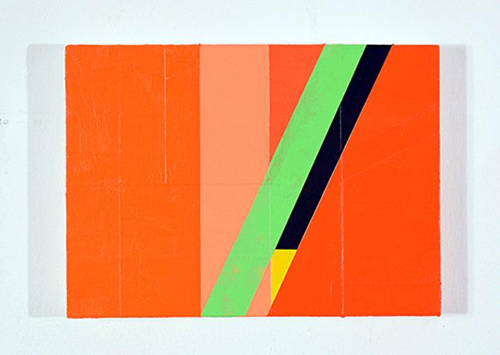 Untitled (study for Delimitations). Oilandacrylic on MDF. 13 x 18 x 2cm. 2019